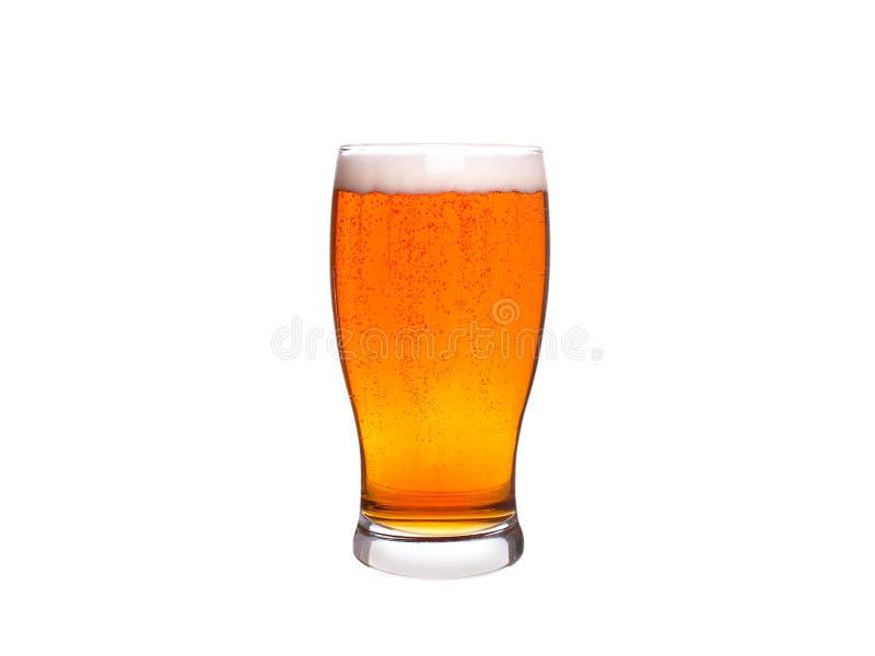 tła piwnego szkła odosobniony biel ale zdjęcie stock