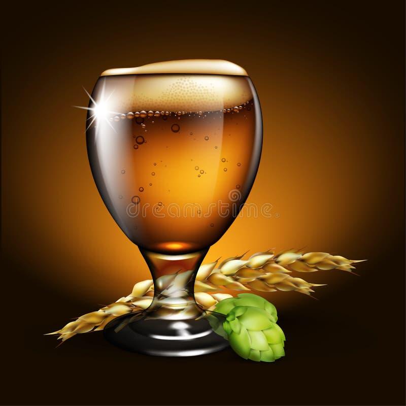 tła piwo zawiera gradientową siatkę Wysoce realistyczna ilustracja z skutkiem o royalty ilustracja
