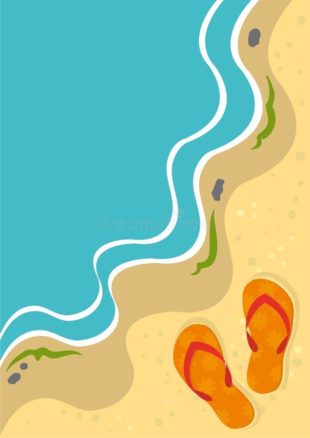 tła plażowy kapci lato ilustracji