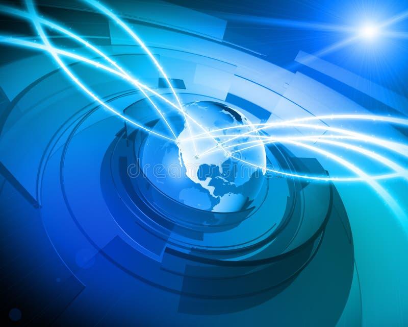 tła podłączeniowy cyfrowy kuli ziemskiej sieci świat ilustracja wektor
