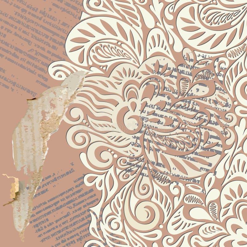tła podława rocznika tapeta ilustracji