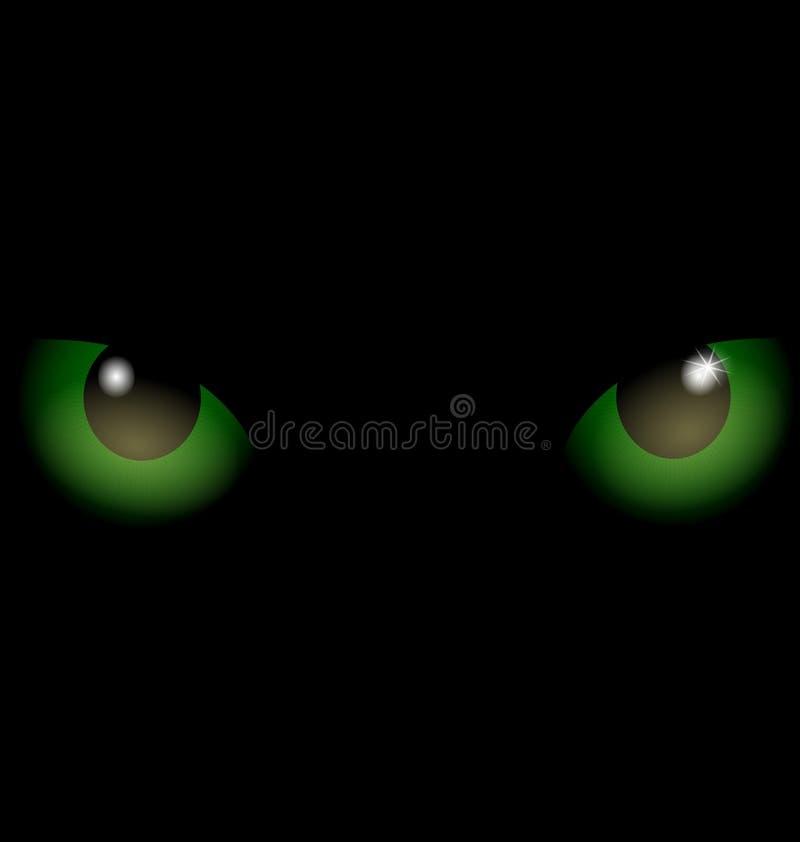 tła podbitych oczu zieleń ilustracji