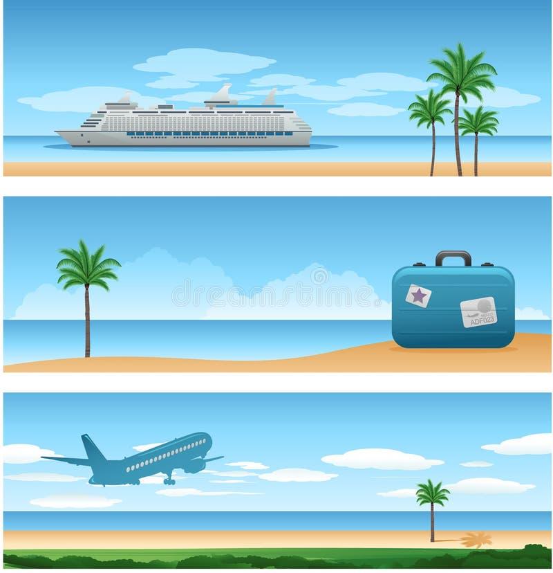 tła podróży wakacje royalty ilustracja