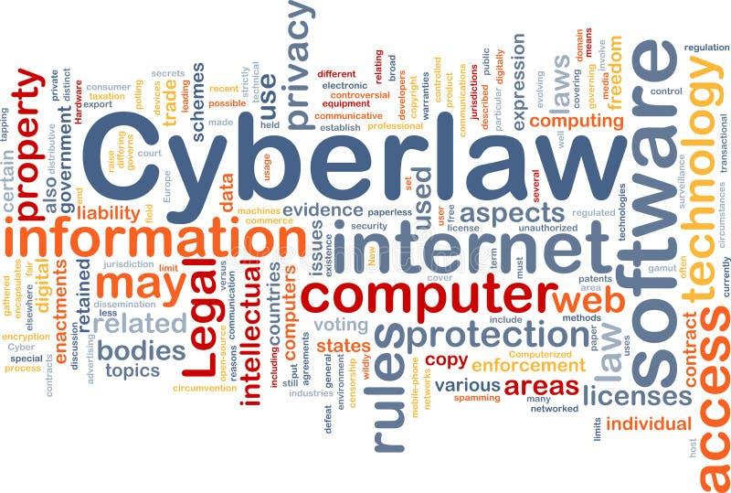 tła pojęcia cyberlaw ilustracji