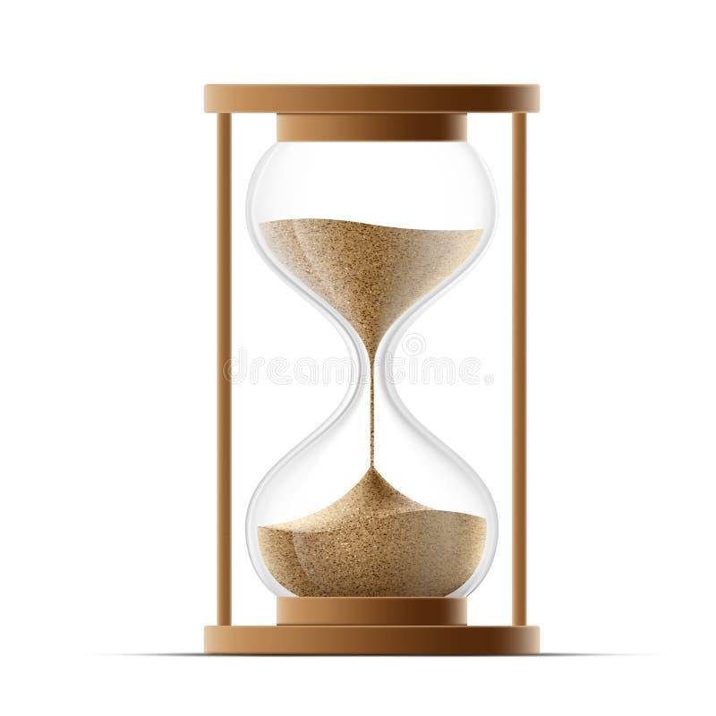 tła pojęcia hourglass odosobniony czas biel ilustracji