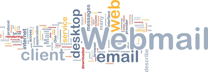 tła pojęcia webmail ilustracja wektor