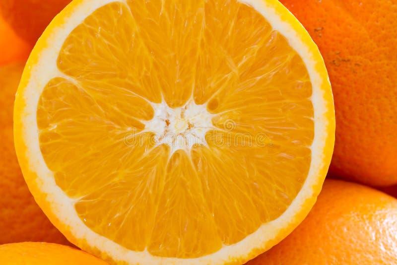 tła pomarańczowy pomarańcz plasterek fotografia stock