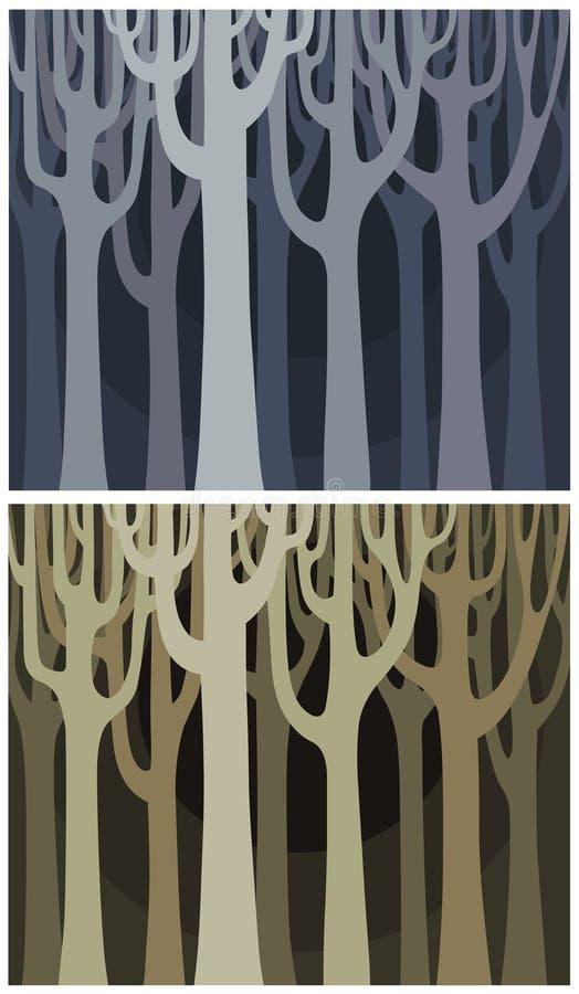 Tła ponuractwa drewno ilustracja wektor