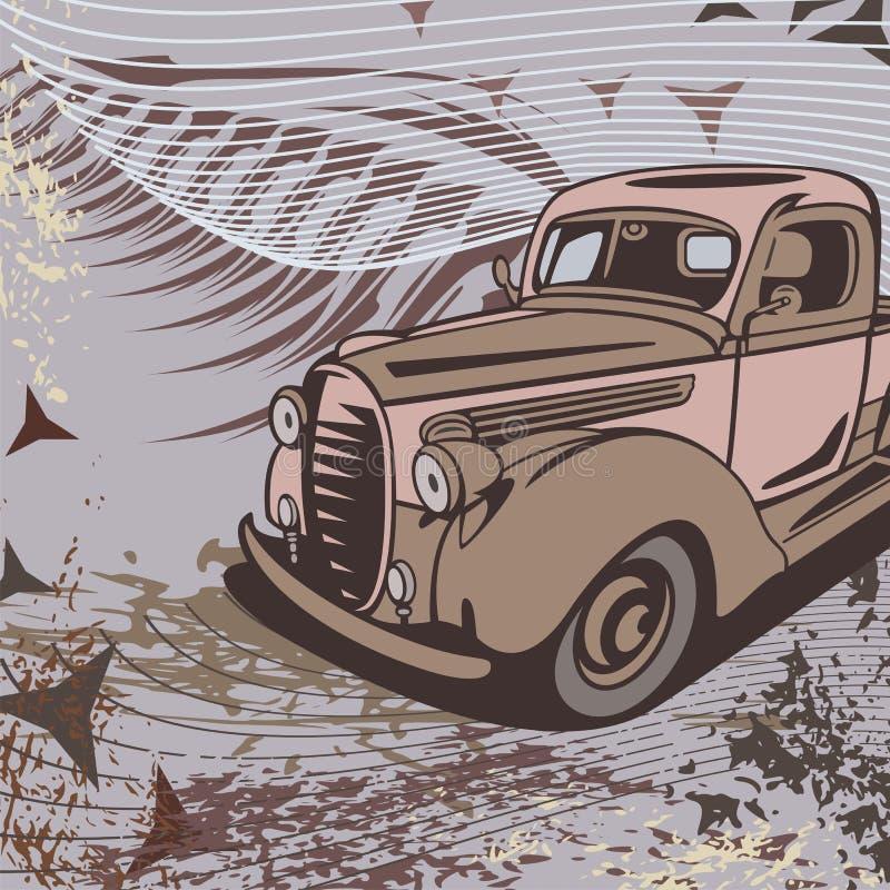 tła prącie samochodowy gorący ilustracji