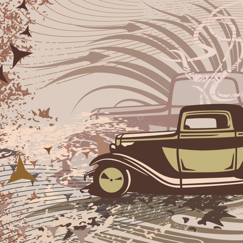 tła prącie samochodowy gorący royalty ilustracja