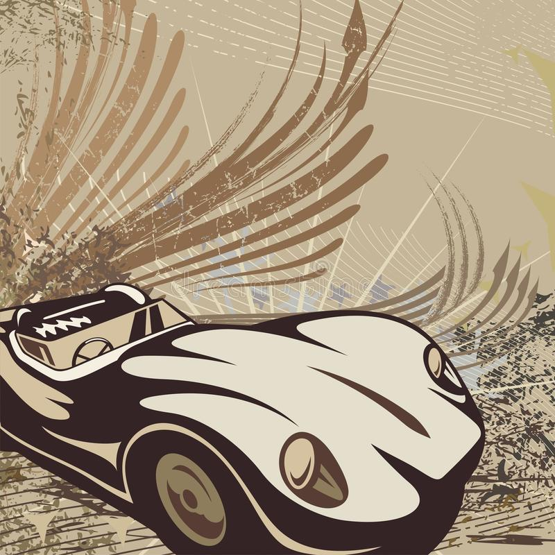 tła prącie samochodowy gorący ilustracja wektor