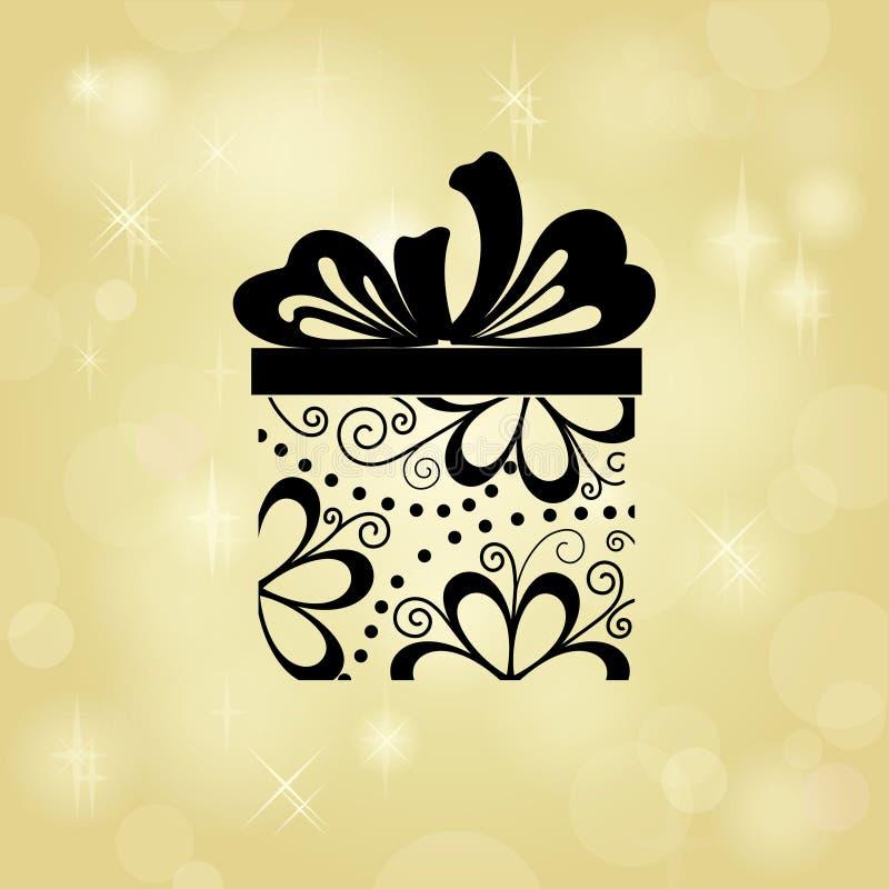 tła prezenta złoto ilustracja wektor