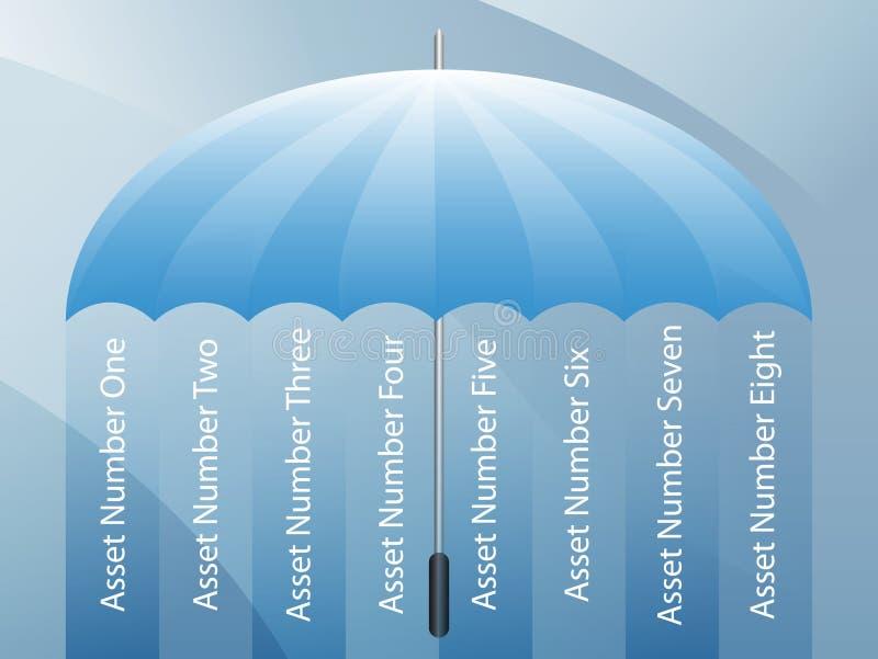 tła prezentaci parasol ilustracja wektor