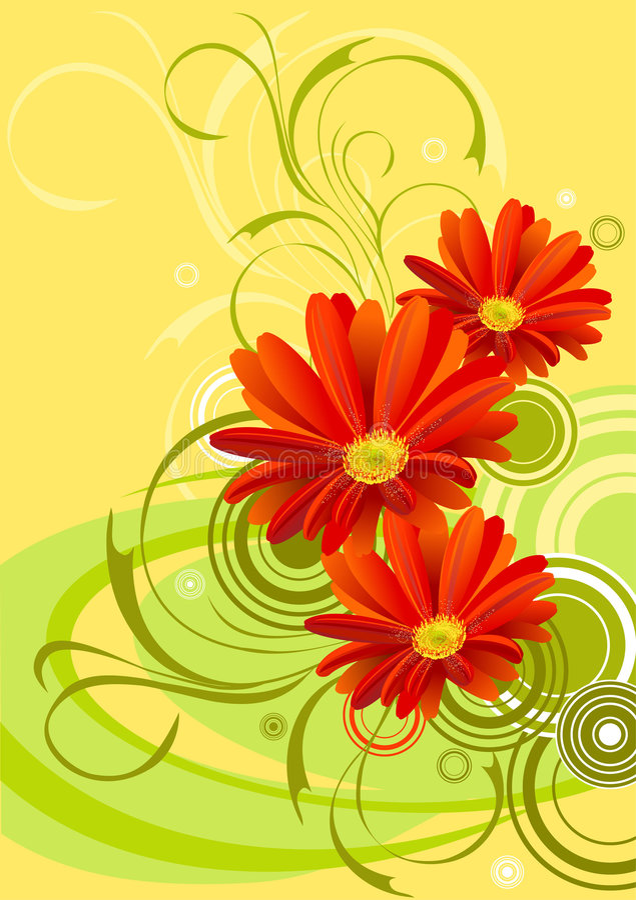 tła projekta kwiatu gerbera ilustracja wektor