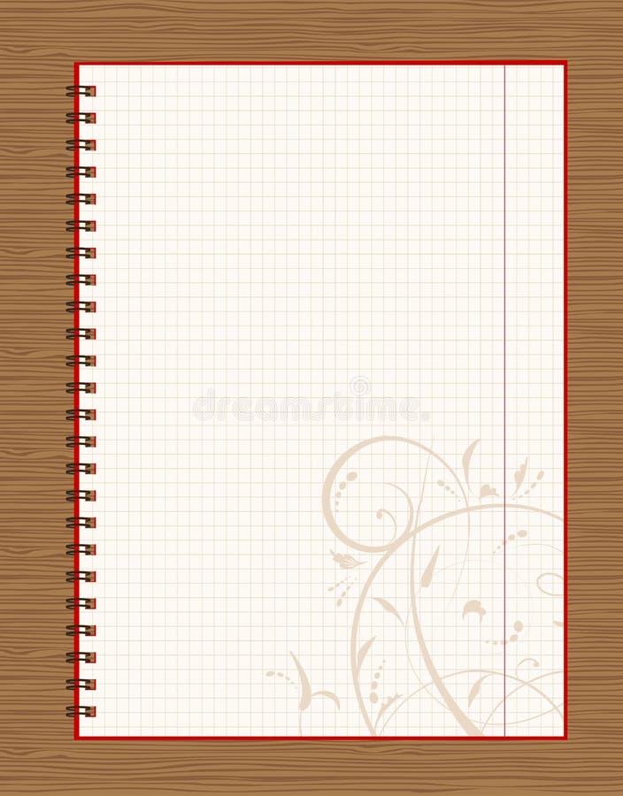 tła projekta notatnika otwarta strona drewniana ilustracji
