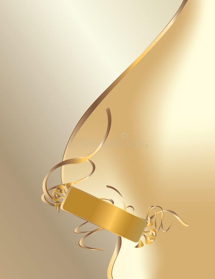 tła projekta złocisty etykietki biel ilustracja wektor