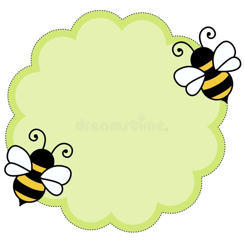 tła pszczoły nutowy papier royalty ilustracja