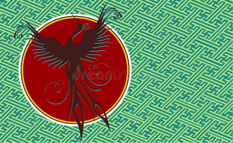 tła ptaka feniks ilustracji
