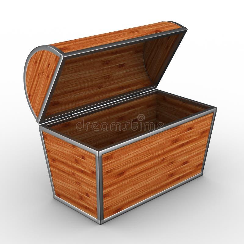 tła pudełka otwarty biel ilustracja wektor