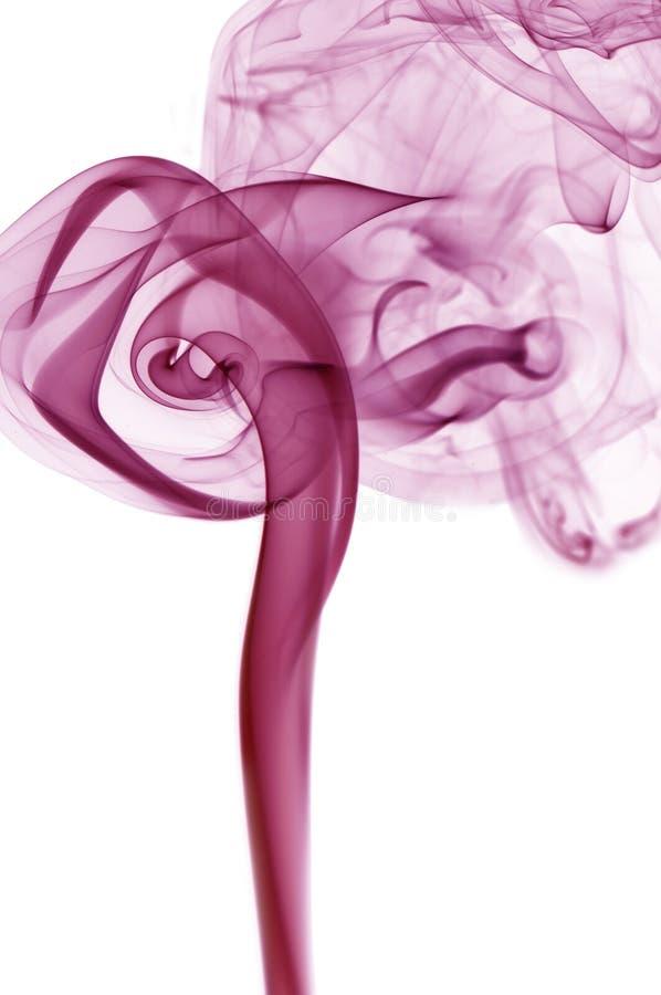 tła purpur dymu biel fotografia stock