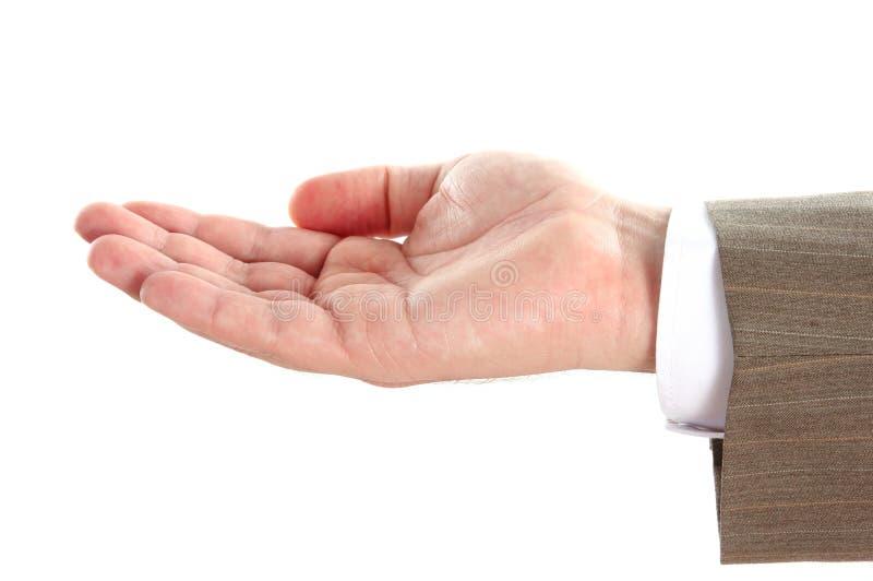 tła pustej ręki odosobniony biel zdjęcia royalty free