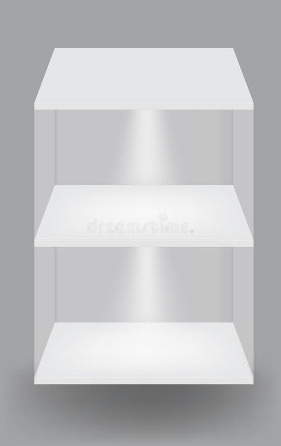 tła pusty grey światło odkłada biel royalty ilustracja