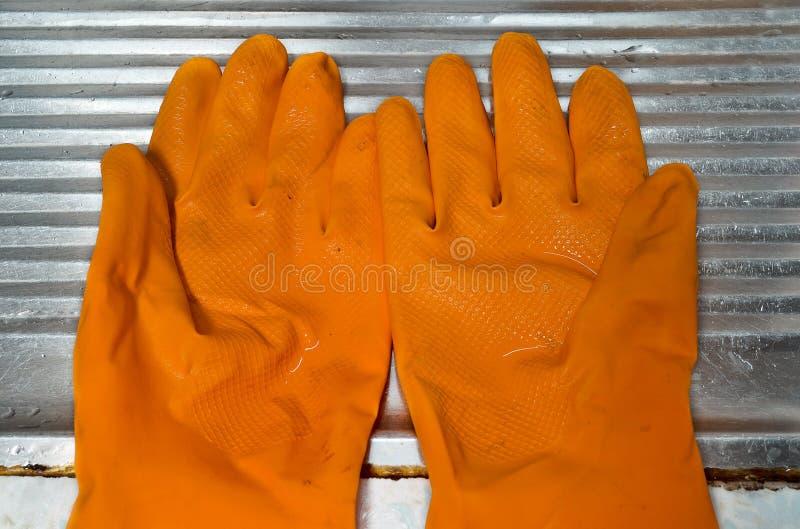 tła rękawiczek odosobniony gumowy biel obrazy royalty free