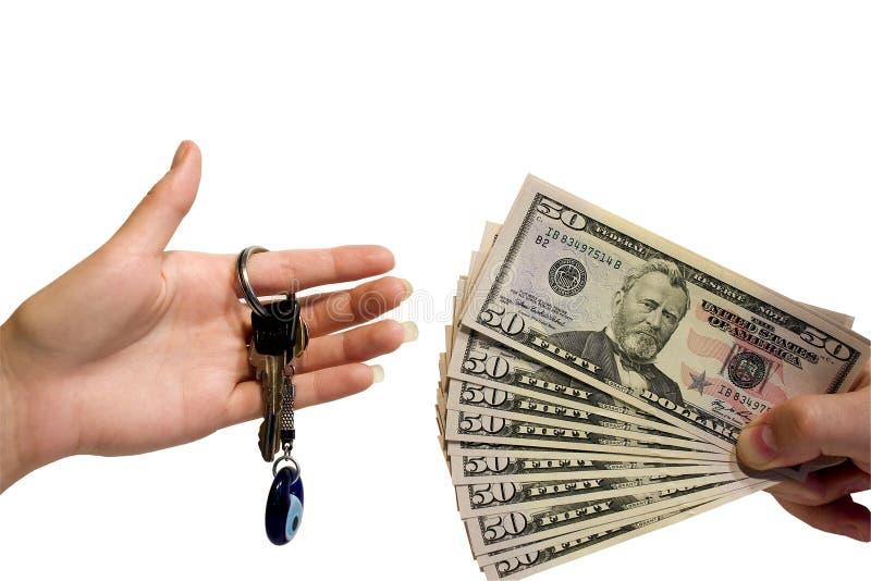 tła ręki kluczowego pieniądze biel zdjęcia royalty free