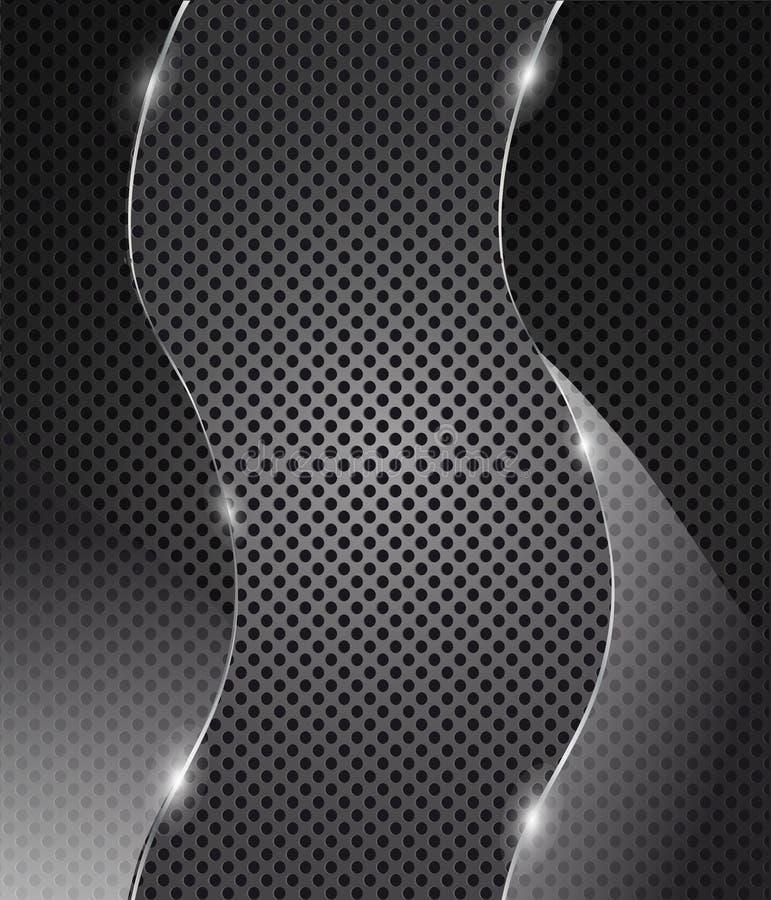 tła ramowy szklany metalu wektor ilustracji