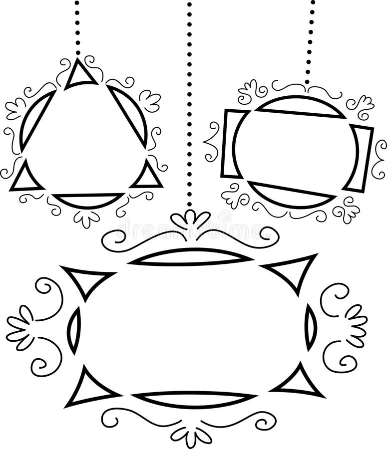 tła retro ramowy royalty ilustracja