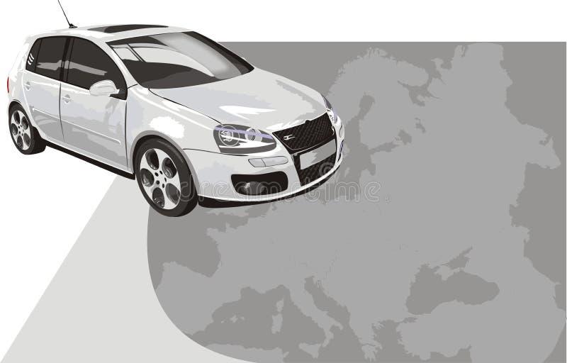tła samochodowej karty koloru sporta biel ilustracja wektor