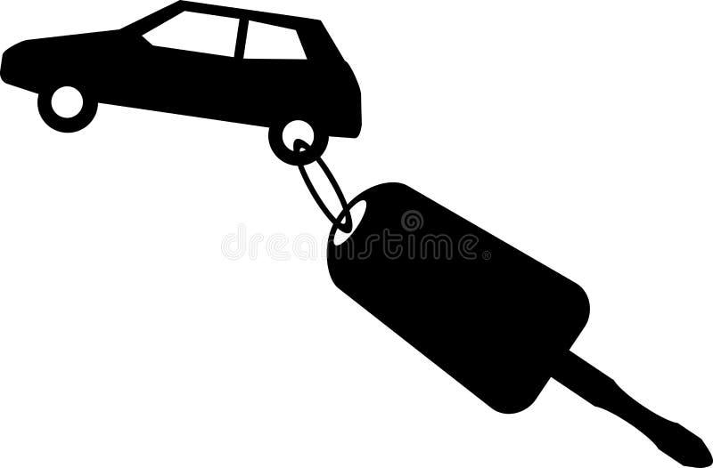 tła samochodowy ilustraci klucza wektoru biel ilustracji