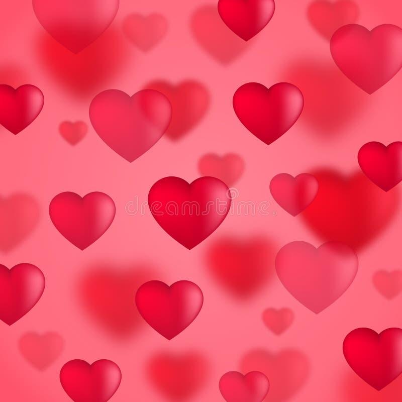tła serc czerwieni valentine ilustracja wektor