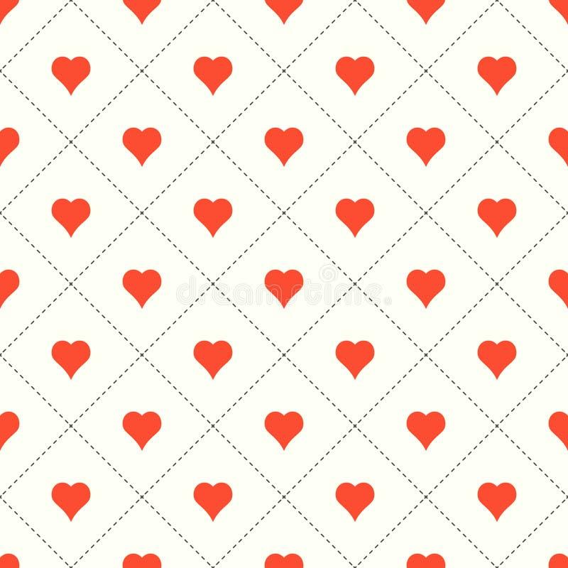 tła serc ilustracyjny valentine wektor zdjęcie stock