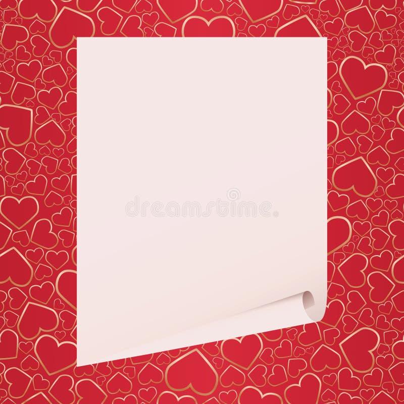 tła serc valentine ilustracji