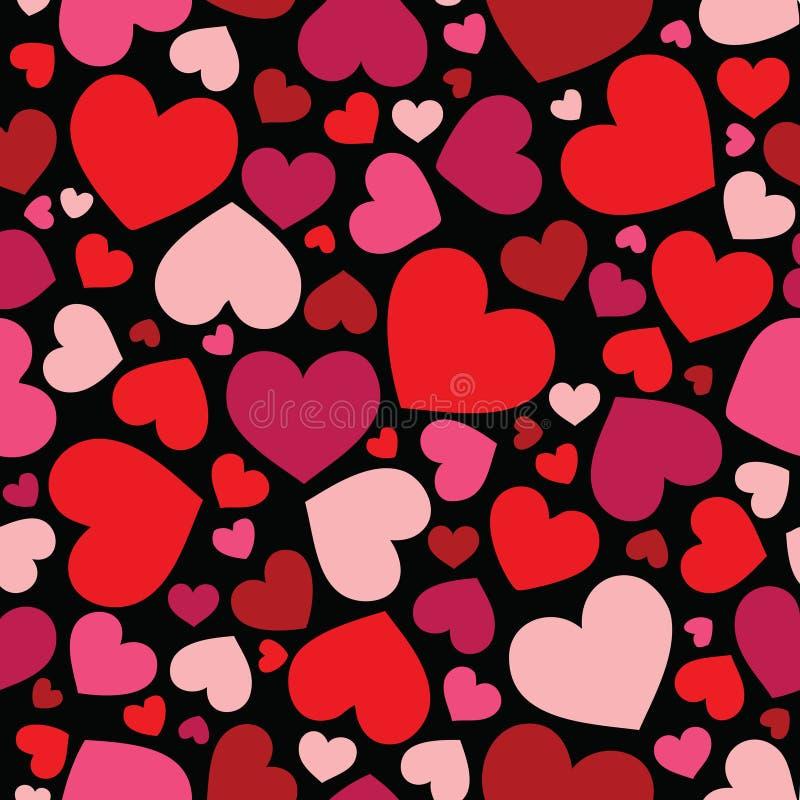 tła serc wzór bezszwowy zdjęcie stock