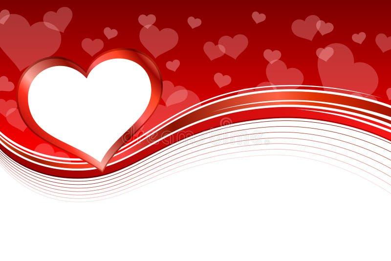 Tła serca ramy abstrakcjonistyczna czerwona ilustracja ilustracji