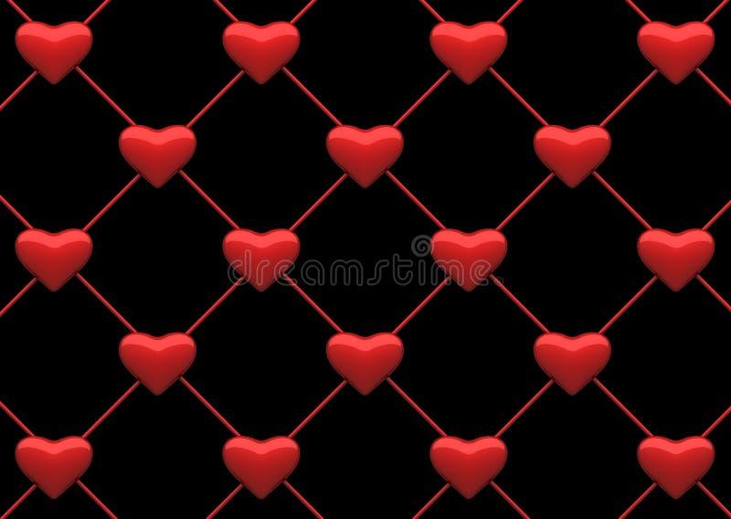 tła serca sieć ilustracji