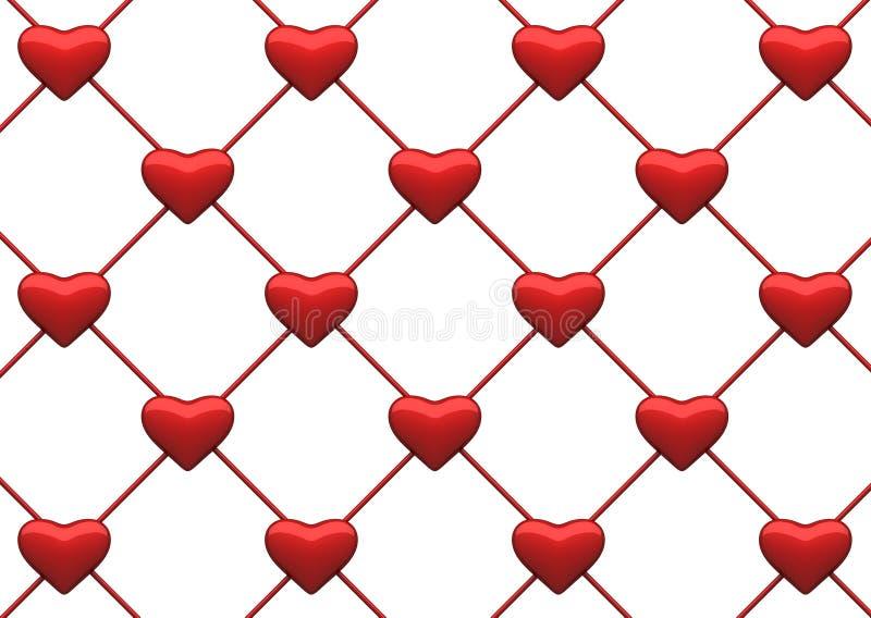 tła serca sieć royalty ilustracja