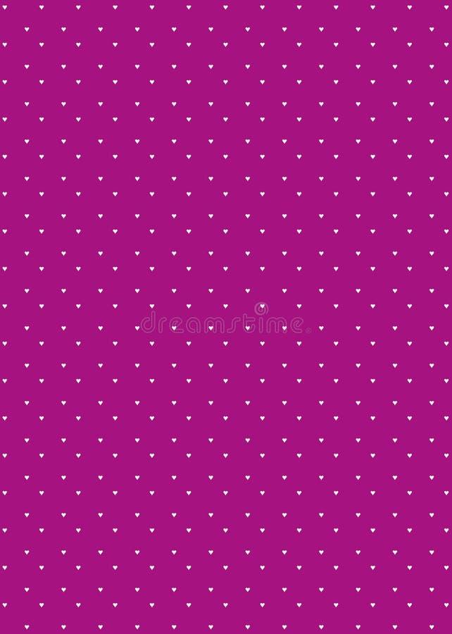 tła serca wzoru purpury royalty ilustracja