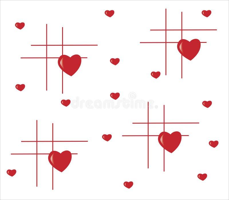 tła serce wykłada czerwień ilustracja wektor