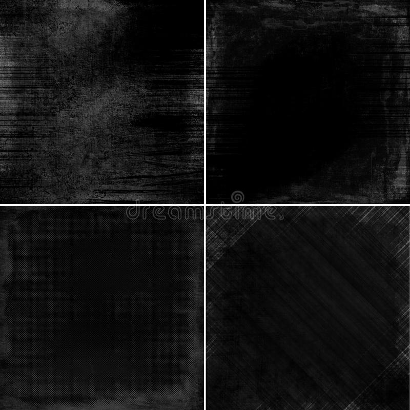tła set ciemny wielo- gałęzatki set ilustracji