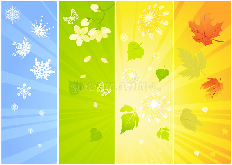 tła sezonowi cztery ilustracja wektor