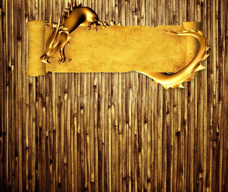 tła smoka grunge ślimacznica ilustracja wektor