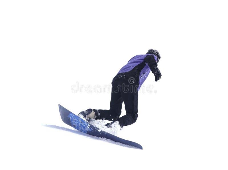 tła snowboarder biel obraz stock