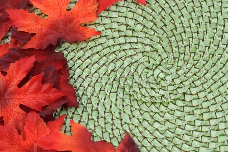 tła spadek liść klonu wicker zdjęcie royalty free