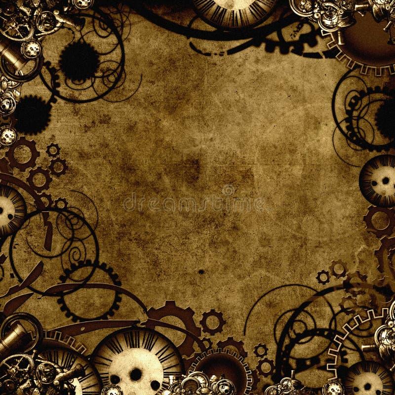 tła steampunk tekstura royalty ilustracja