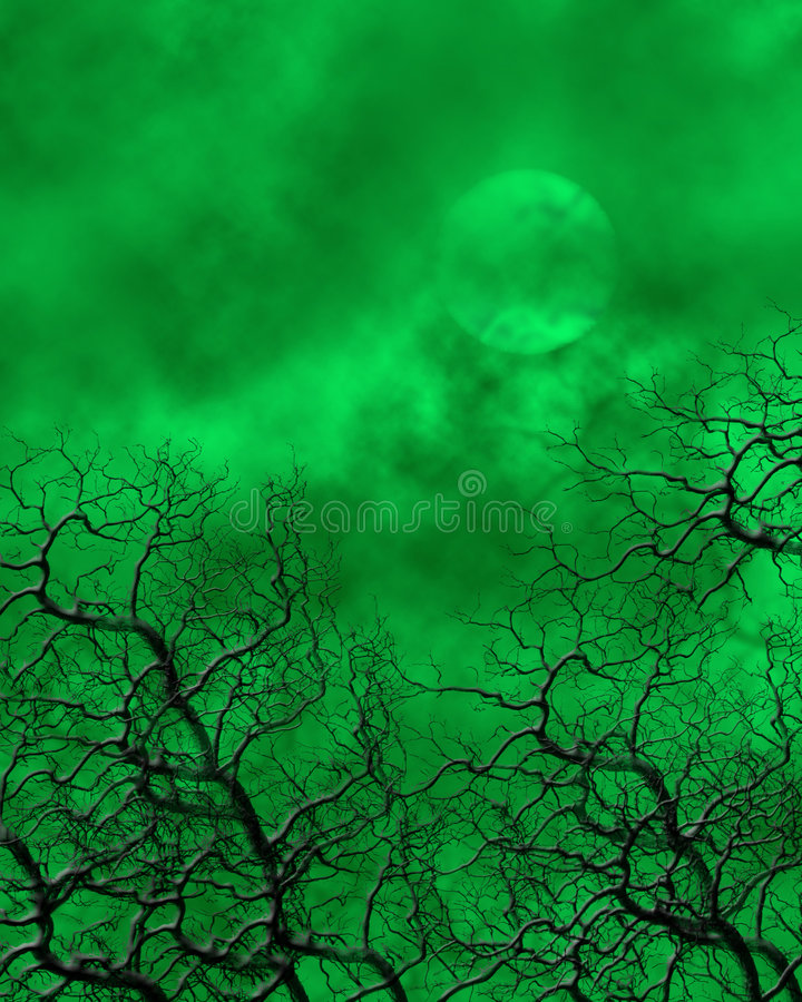 tła straszny zielony royalty ilustracja