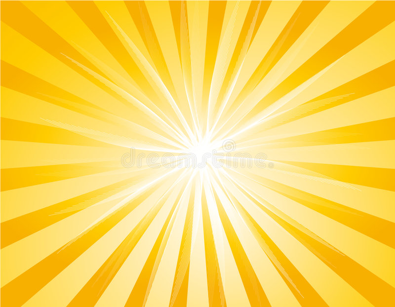 tła sunburst kolor żółty ilustracji