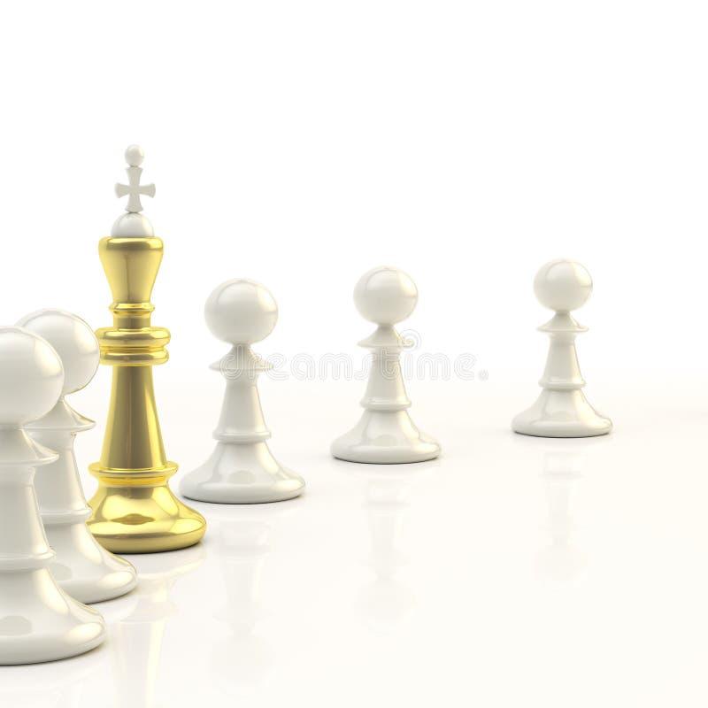 tła szachowy przywódctwo światło royalty ilustracja